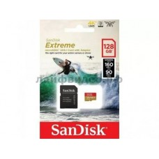MicroSD 64GB SanDisk Class 10 Extreme Action Cameras/Drones A2 V30 UHS-I U3 (160 Mb/s) +SD адаптер